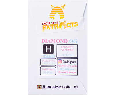 Exclusive Extracts – Diamond OG, dispensary edibles, buy dispensary edibles