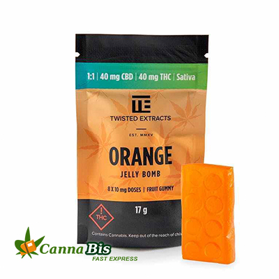 Orange 1:1 Jelly Bomb, online dispensary vancouver