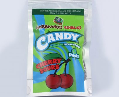 Herbivores Edibles Cherry Sour Gummy Candy, cannabis fast express, online dispensary toronto